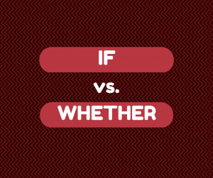 if whether