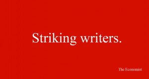 stricking writers ad
