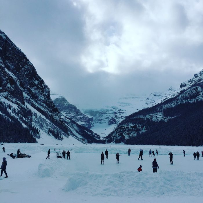 Frozen Lake Louise in February