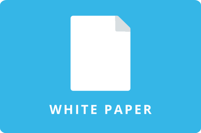 A graphic that says white paper