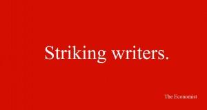 stricking writers ad
