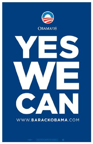 Political Poster — Yes We Can