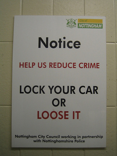 An un-proofread notice from the Nottingham City council.