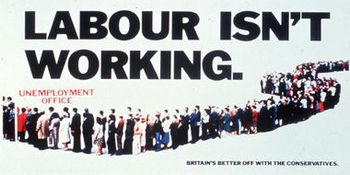 Political Poster — Labour Isn't Working