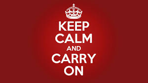Political Poster — Keep Calm and Carry On