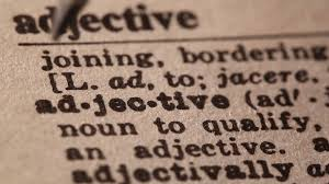 adjective dictionary entry