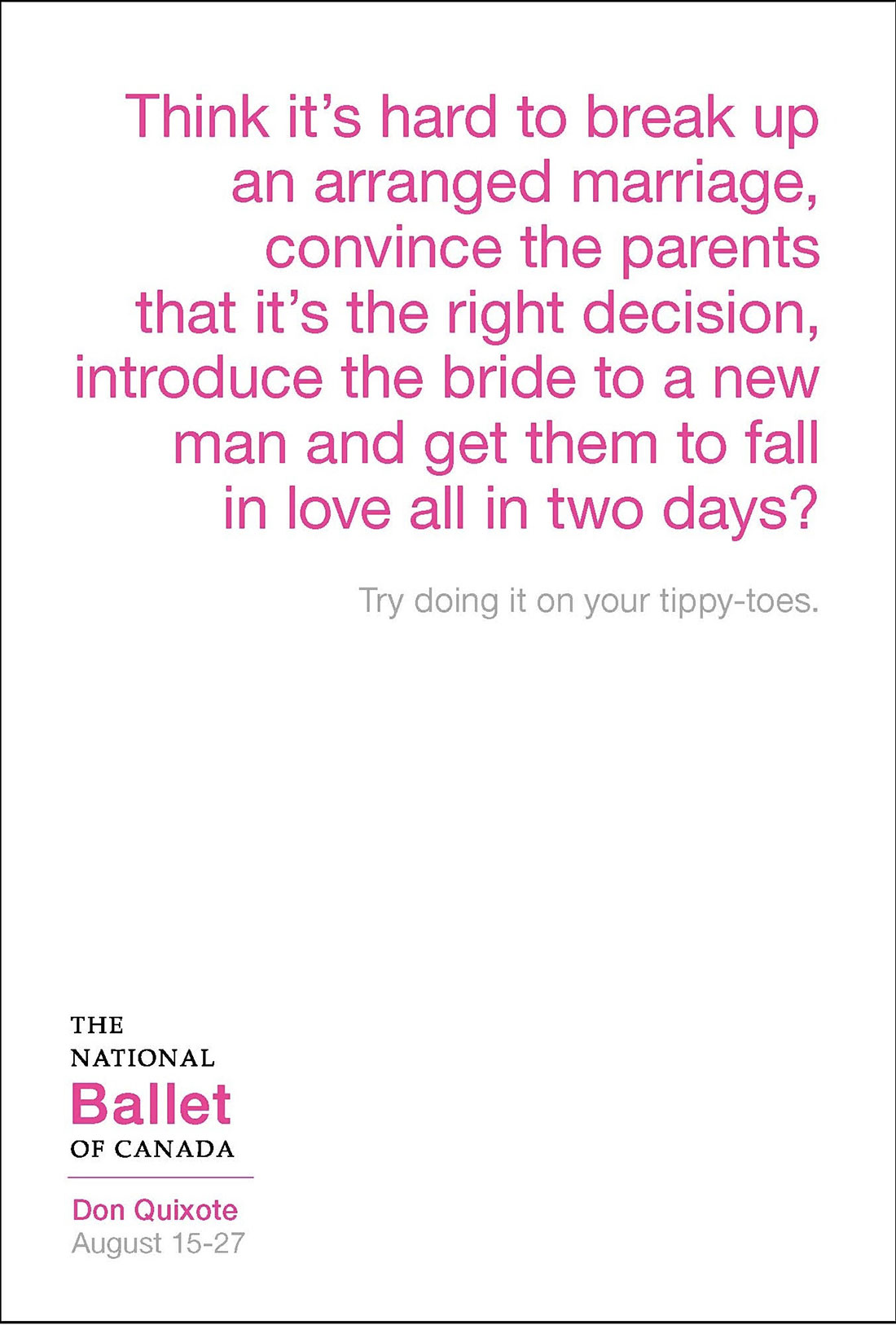 national ballet copywriting