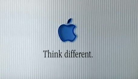 Apple's writing is genius, like this tagline: Think Different