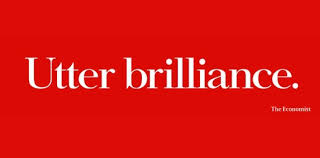 "Great copywriting: A print ad by the Economist that reads ""Utter Brilliance"""