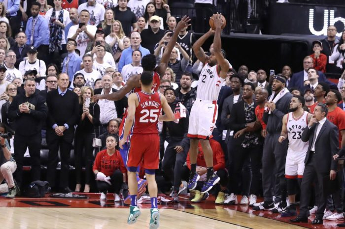 Kawhi Leonard making the shot to win  the  series