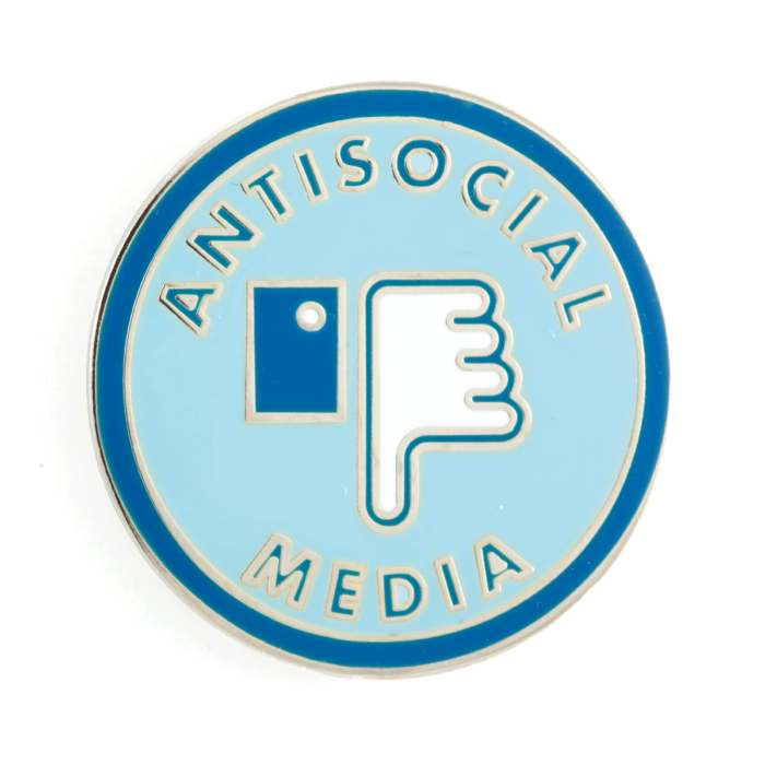 Social media writing badge